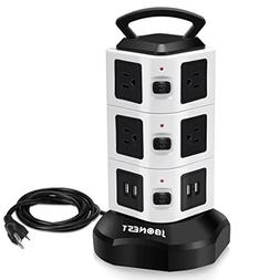 JBonest  Power Strip Surge Protector with Multiple Outlets,