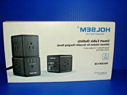 HOLSEM Power Cube Surge Protector 14 AC outlets, 3 Smart USB