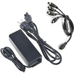 AT LCC 4 Way Splitter Cord + 12V Switching AC Adapter for Tr