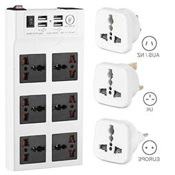 Yubi Power Power Strip w/ 6 Universal Sockets & 4 USB Ports