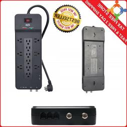 Surge Protector 12 Outlet Power Strip TV Network Telephone P