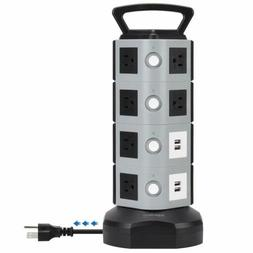 Surge Protector 13A Power Strip Tower 3000W Charging Station