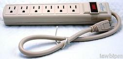 Surge Protector 6 Outlet Power Strip Heavy Duty UL Listed 15