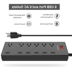 surge protector power strip 6 outlet 6