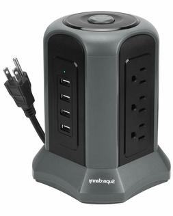 surge protector power strip tower 10ft 4