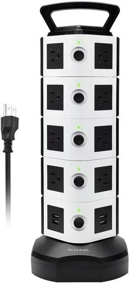 JACKYLED Surge Protector Power Strip Tower18 AC Outlets 4