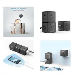 Surge Protectors Smart Cubic Power Strip, Wall Mount Protect