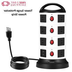 Tower Surge Protector Power Strip,Universal Charger 15 Outle