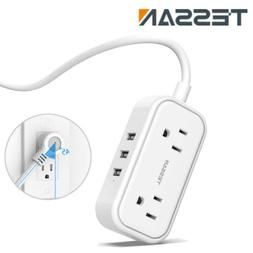 Travel Portable Plug Power Strip with 2 Outlet &3 USB Ports&