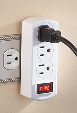 Triple Plug Outlet Adapter with On/Off Switch