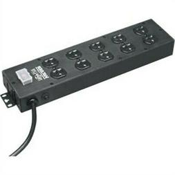 Tripp Lite UL800CB-15 Waber Power Strip 120V 5-15R 10 Outlet