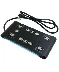 GE UltraPro Surge Protector, 10 Outlet Power Strip with 2 US