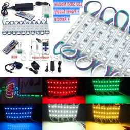 US 50~100FT 5050 SMD 3 LED Module STORE FRONT Window Light S