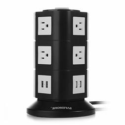 Safemore USB Power Strip 10-Outlet Charging Station with 4 S