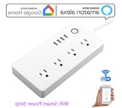 WiFi Smart Plug Power Strip Remote Control 4 AC & 4 USB Alex