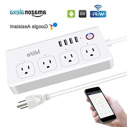 WiFi Smart Power Strip, Mlife Surge Protector Strip with 4 U