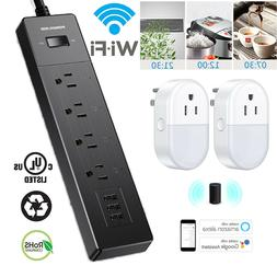 WiFi Smart Power Strip Alexa Google Wifi Surge Protector Wit