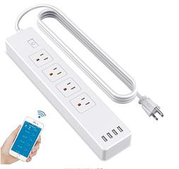 WiFi Smart Power Strip Surge Protector with 4 Smart Plugs an