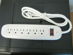 woods 6 outlet surge protector power strip